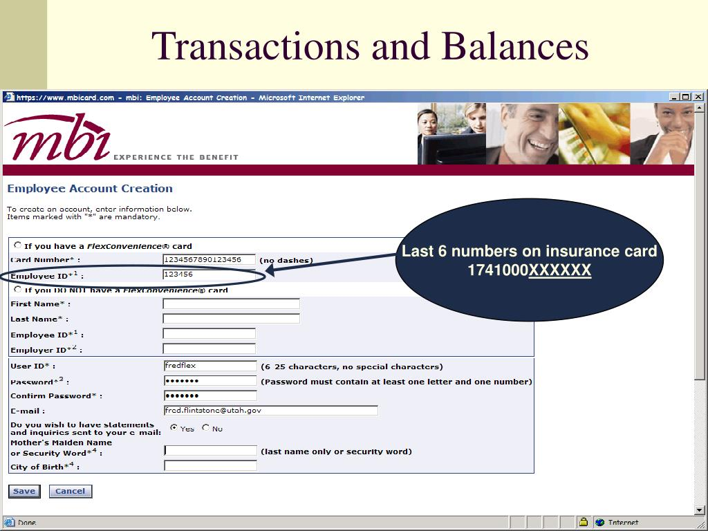 Transactions and Balances