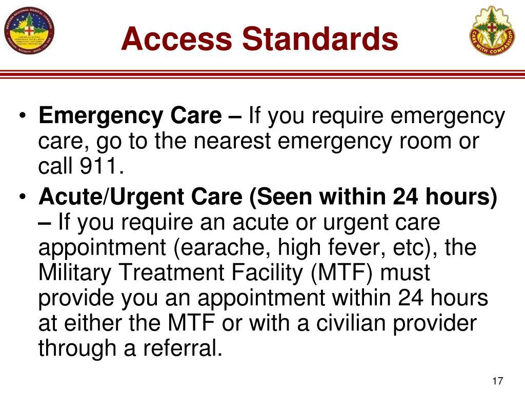 Access Standards
