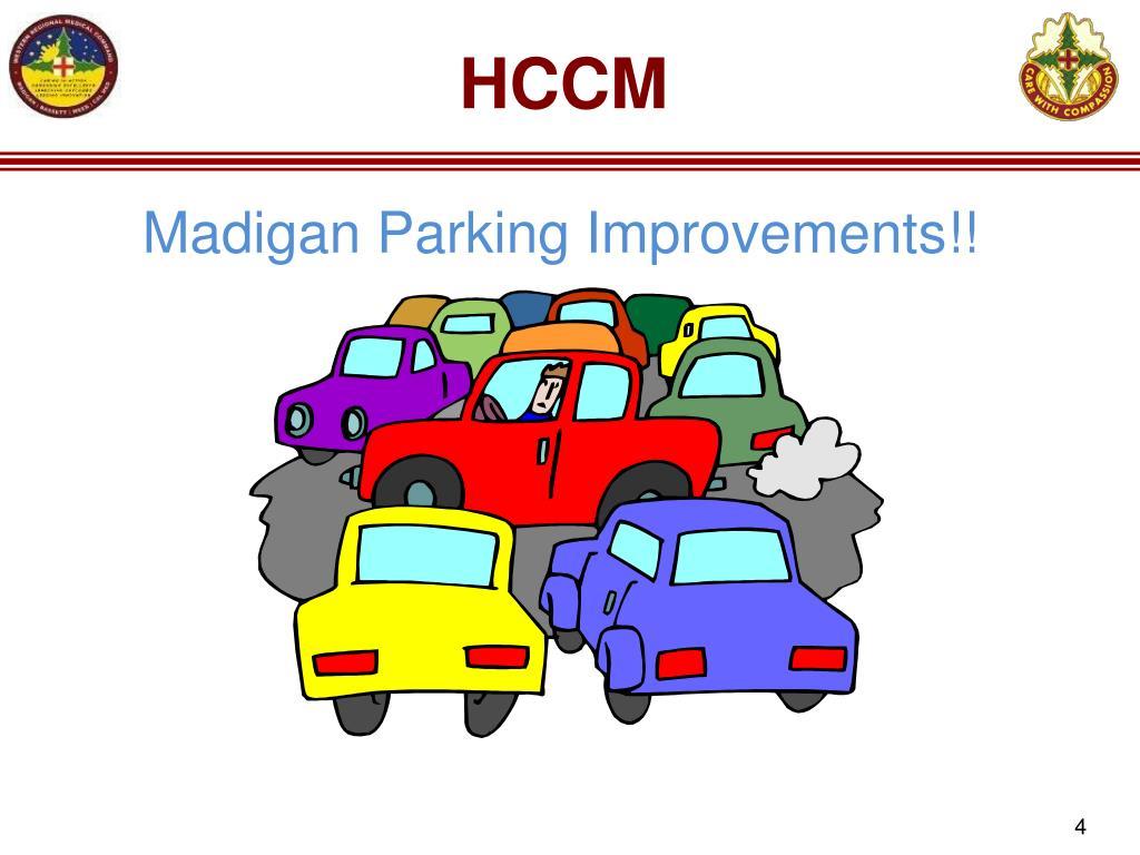 Madigan Parking Improvements!!
