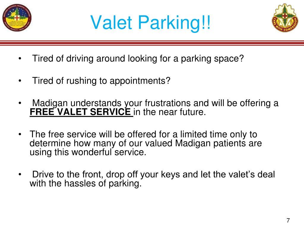 Valet Parking!!