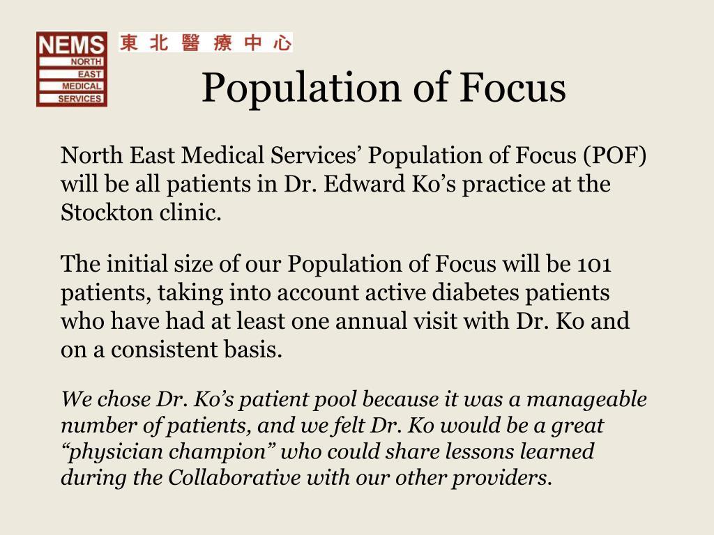 Population of Focus