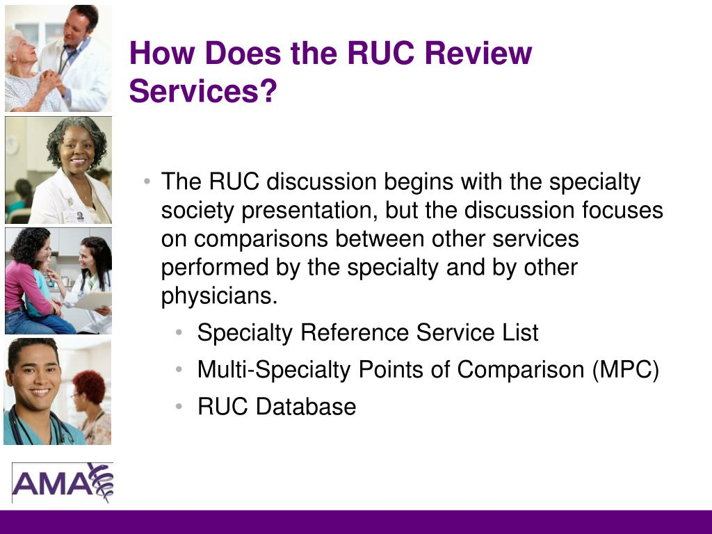 How Does the RUC Review Services?