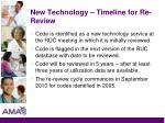 new technology timeline for re review