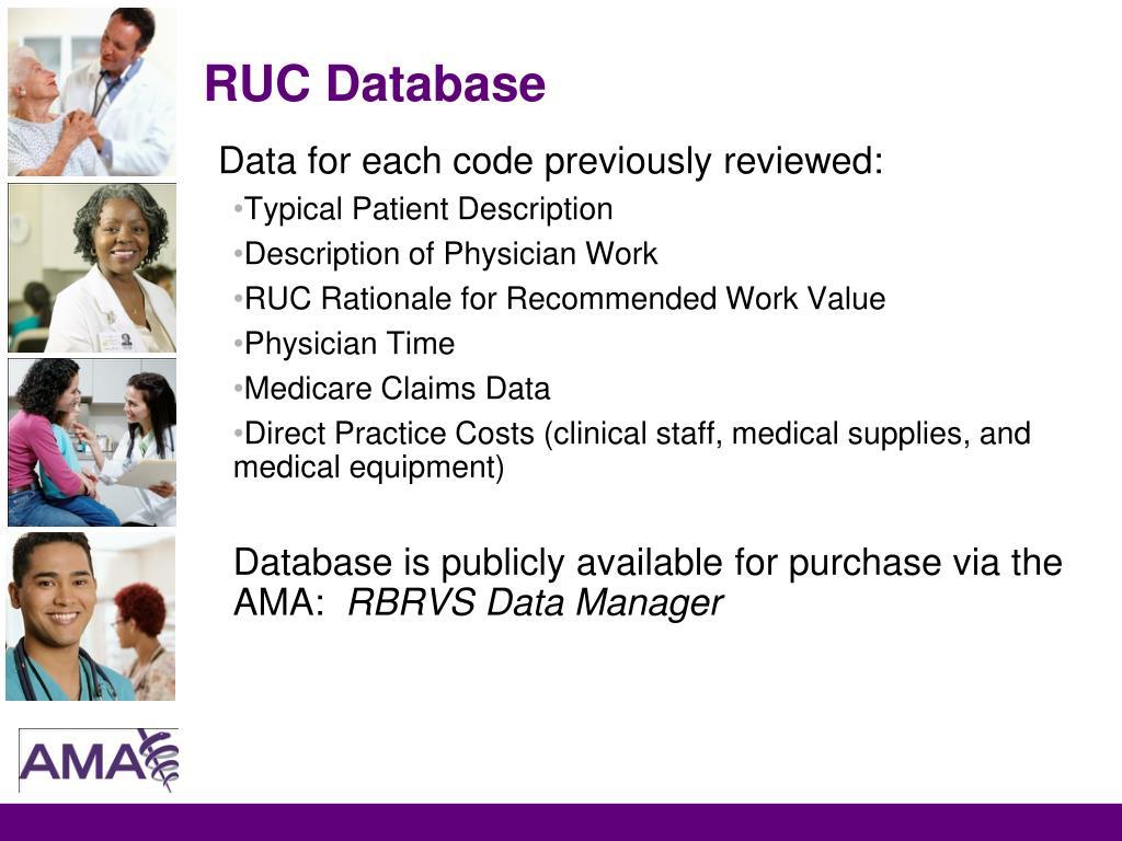 RUC Database