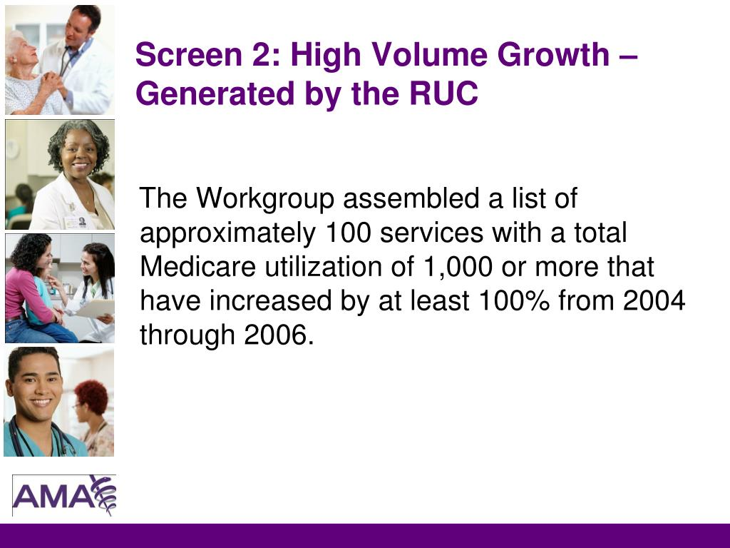 Screen 2: High Volume Growth – Generated by the RUC