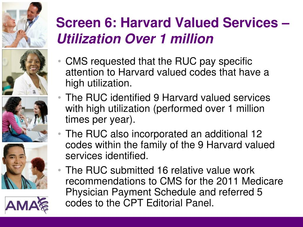 Screen 6: Harvard Valued Services –