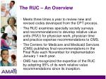 the ruc an overview4