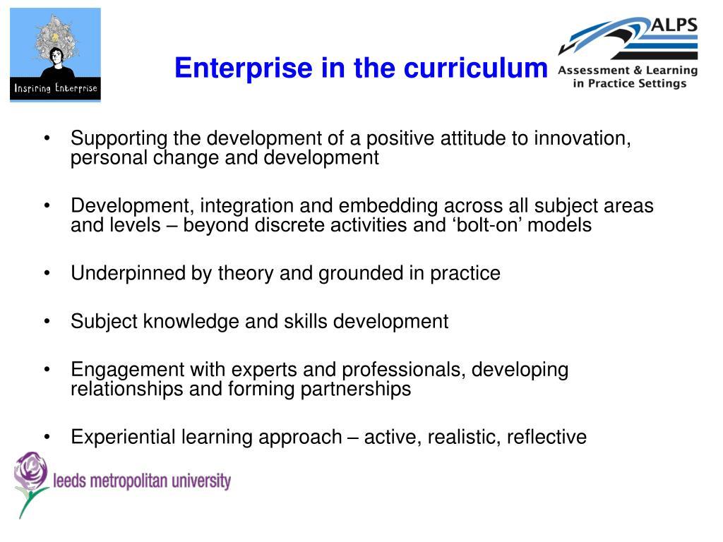 Enterprise in the curriculum