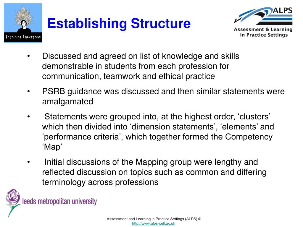 Establishing Structure