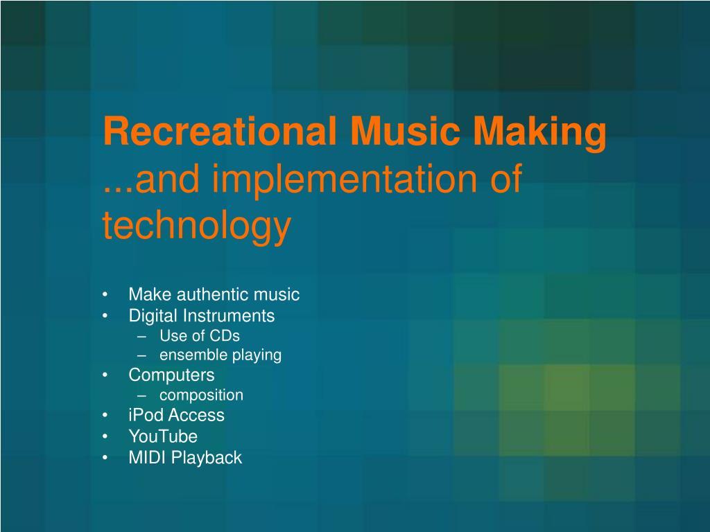 Recreational Music Making