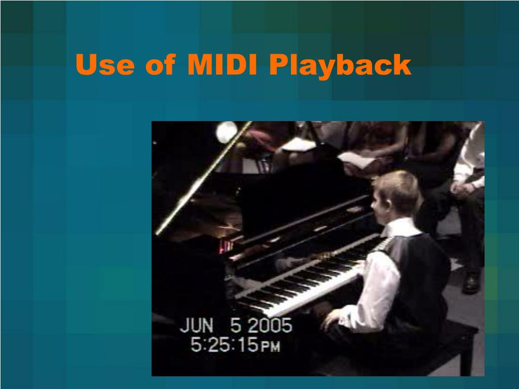 Use of MIDI Playback