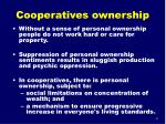 cooperatives ownership