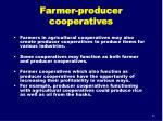 farmer producer cooperatives