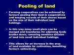 pooling of land