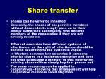share transfer