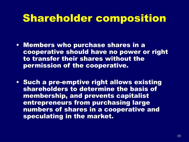 Shareholder composition