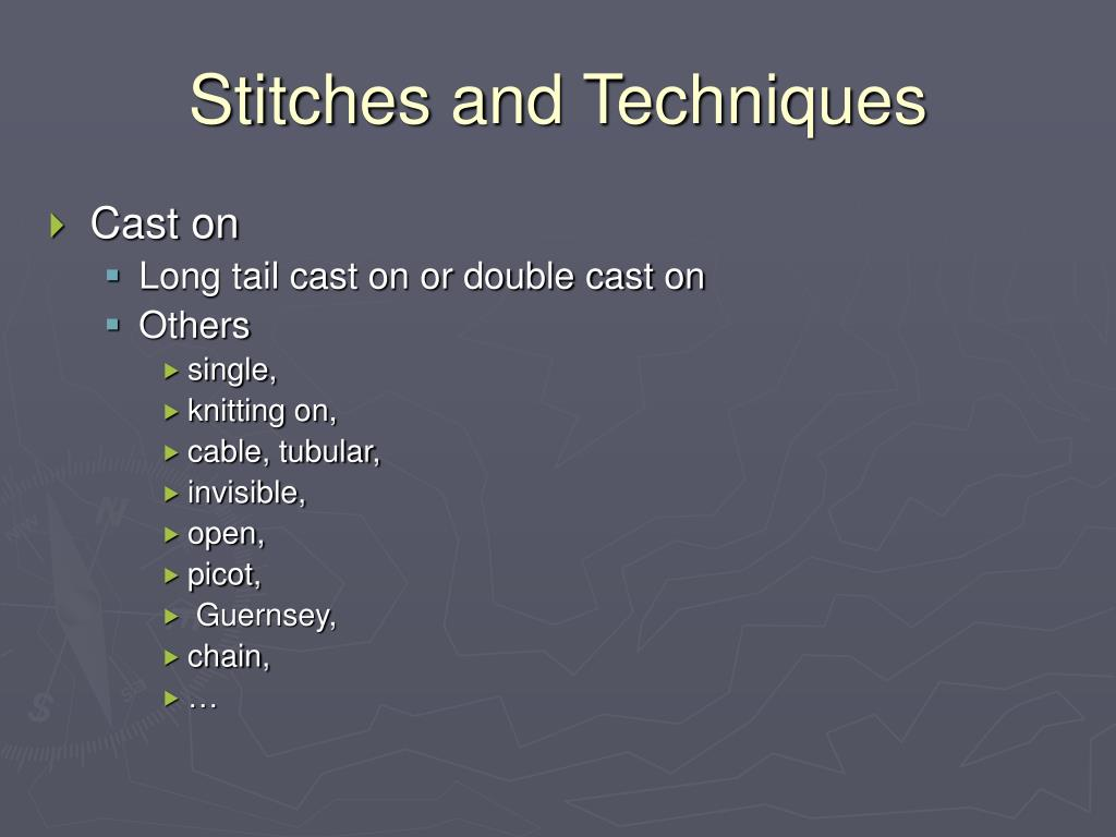 Stitches and Techniques