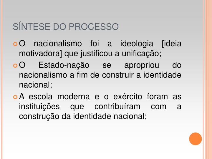 SNTESE DO PROCESSO