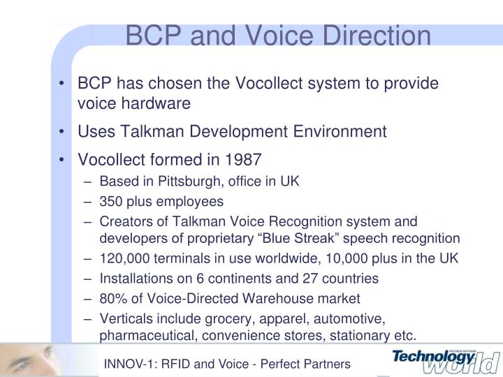 BCP and Voice Direction