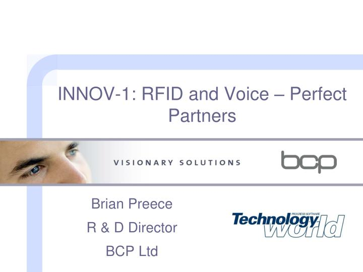 INNOV-1: RFID and Voice – Perfect Partners