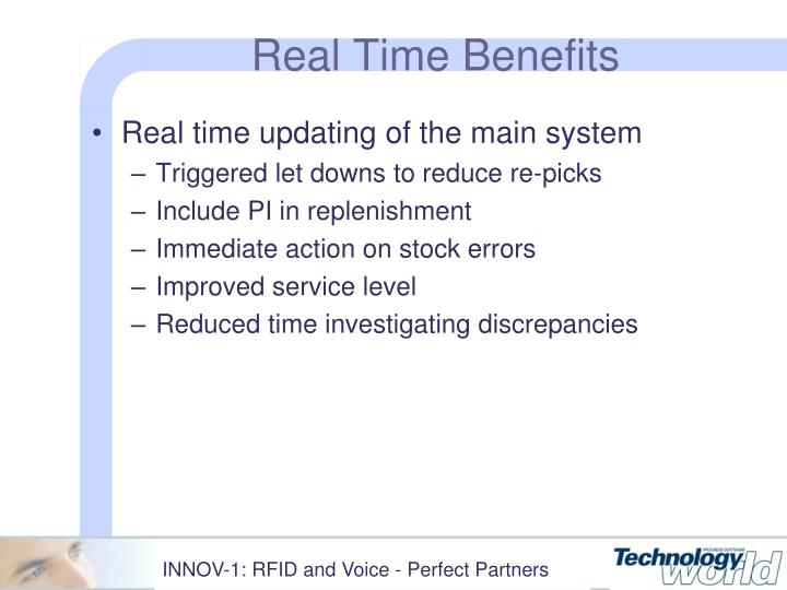 Real Time Benefits