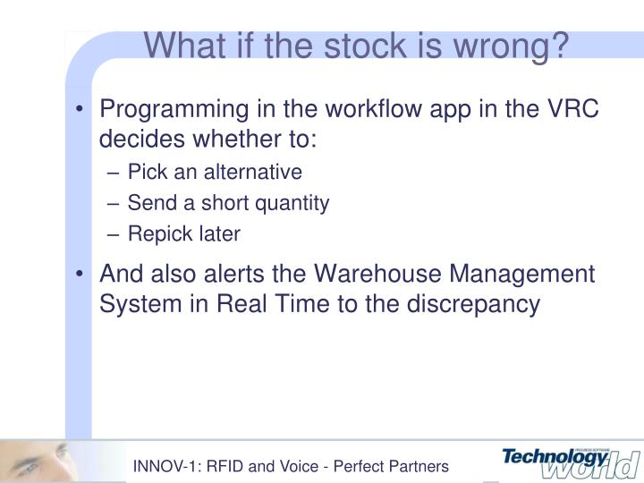 What if the stock is wrong?