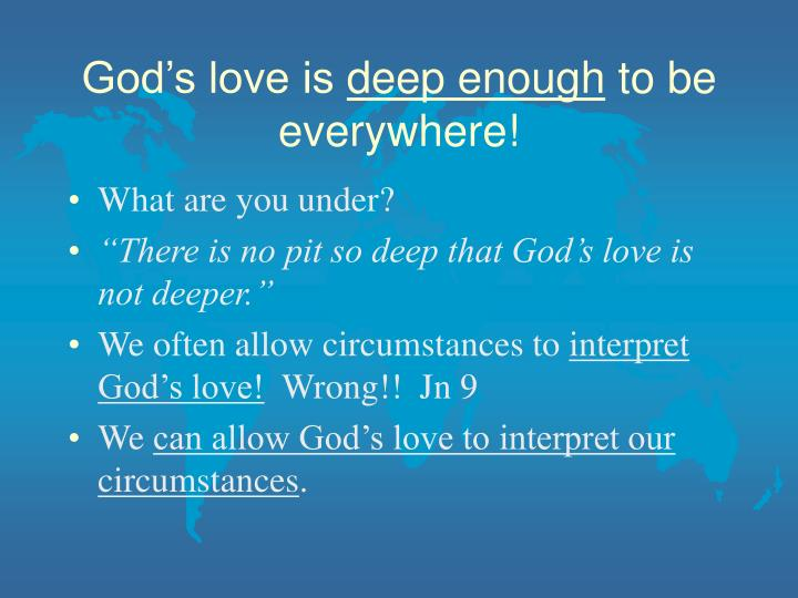 God's love is