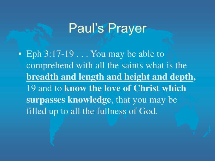 Paul's Prayer