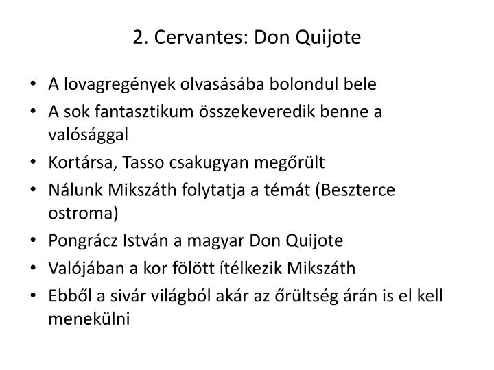 2 cervantes don quijote