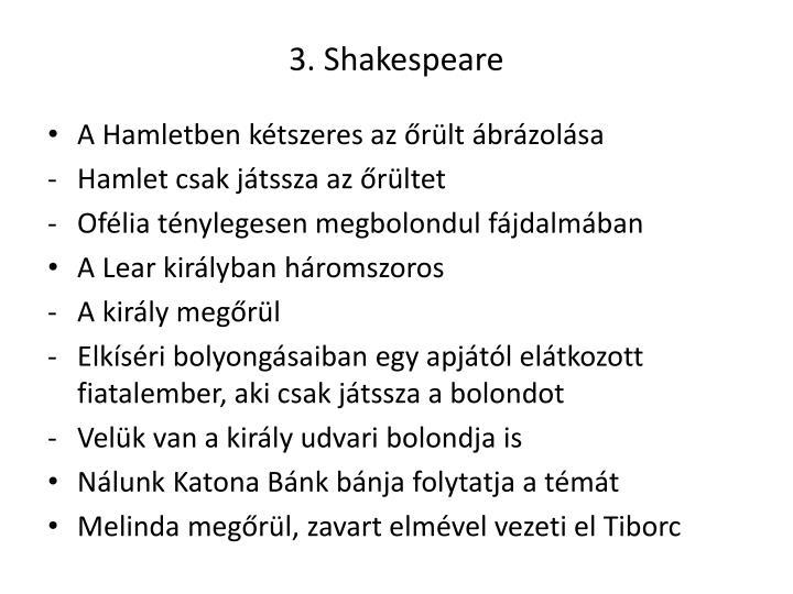 3. Shakespeare