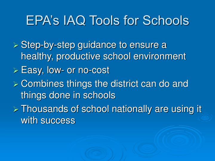 EPA's IAQ Tools for Schools