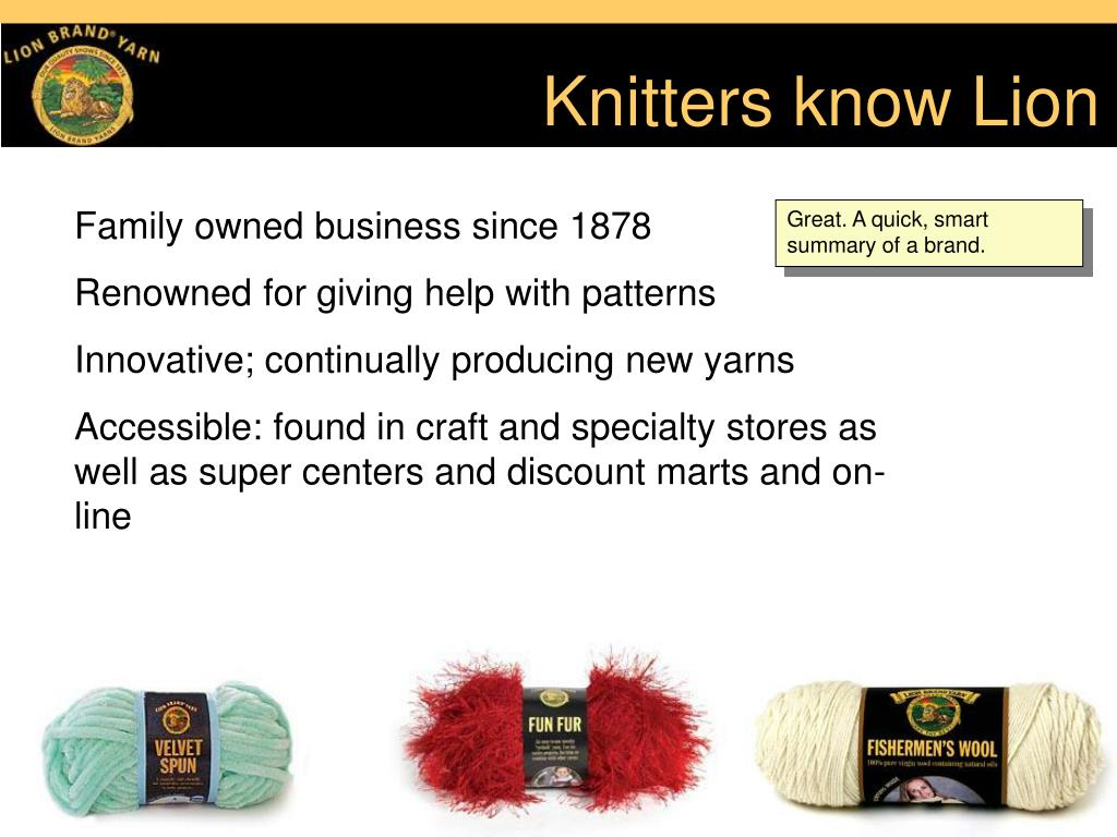Knitters know Lion