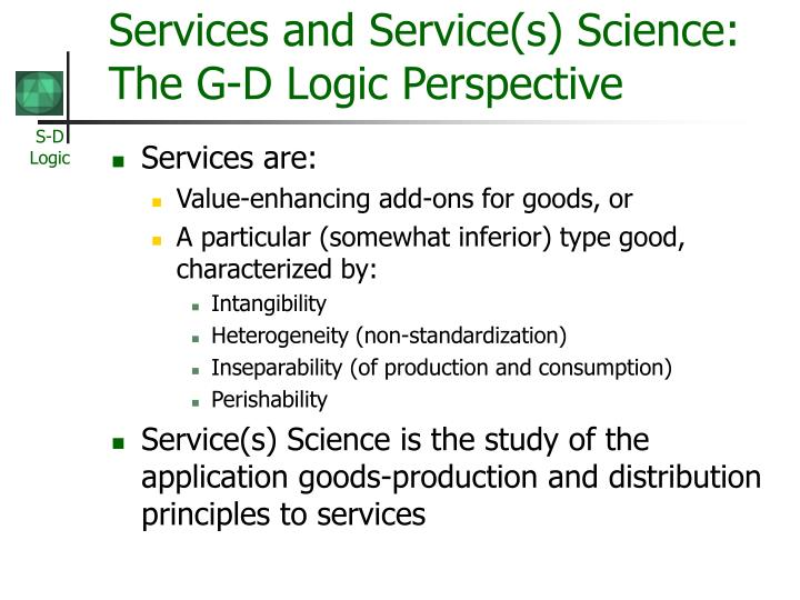 Services and Service(s) Science: