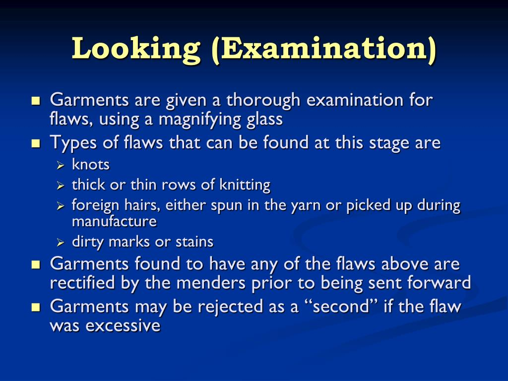 Looking (Examination)