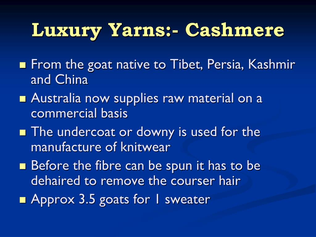 Luxury Yarns:- Cashmere