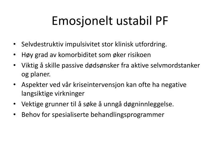 Emosjonelt ustabil PF