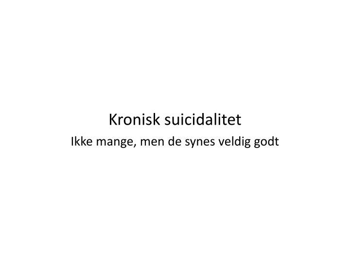 Kronisk suicidalitet