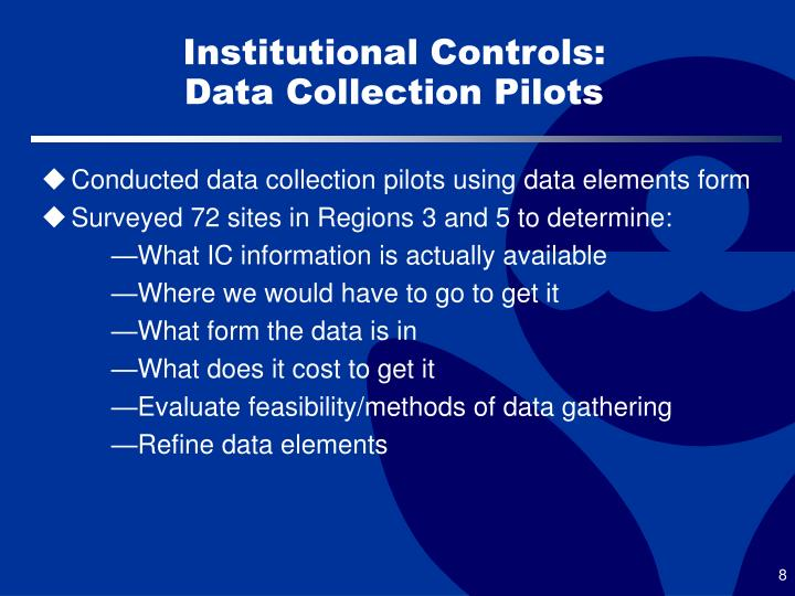 Institutional Controls: