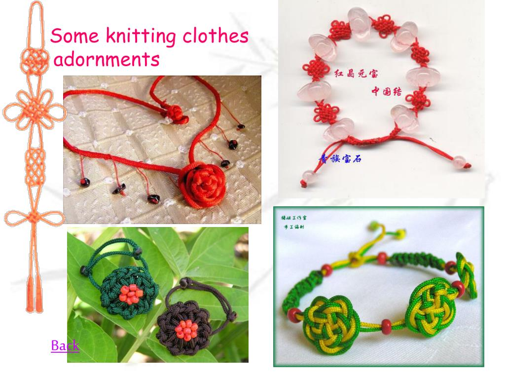 Some knitting clothes adornments