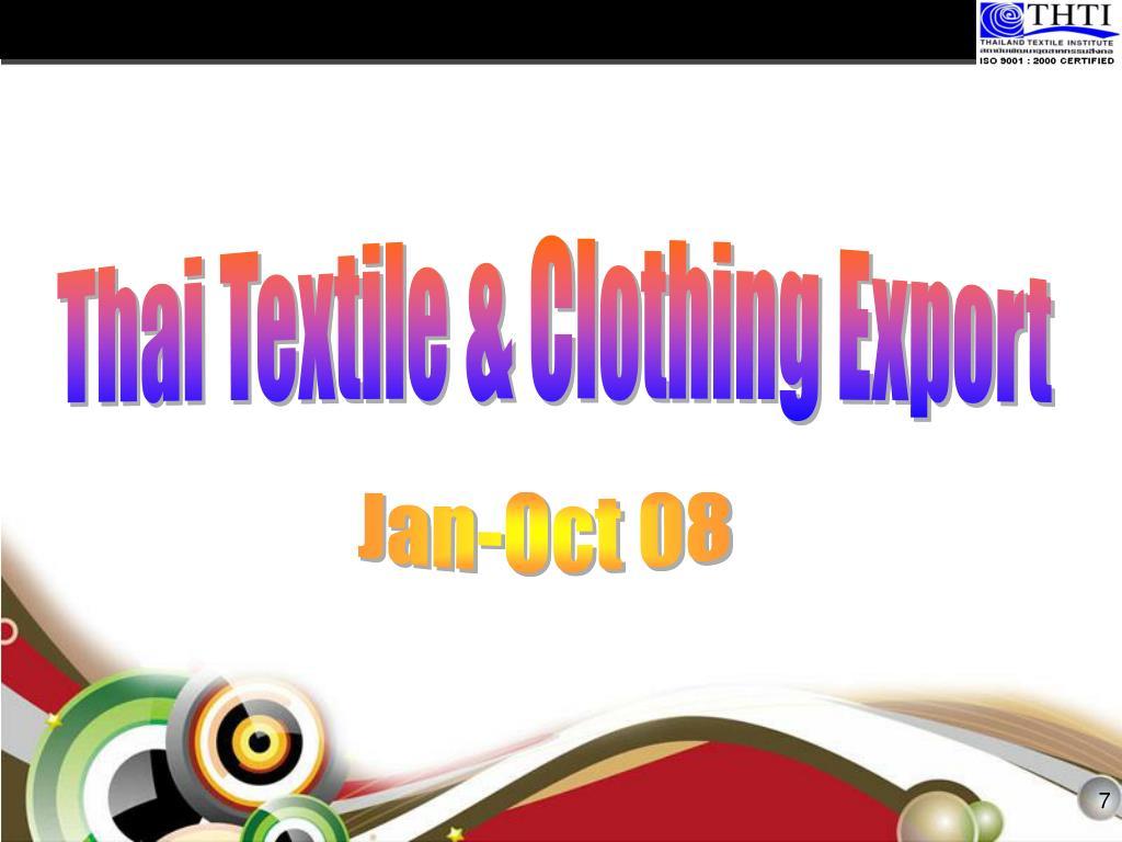 Thai Textile & Clothing Export