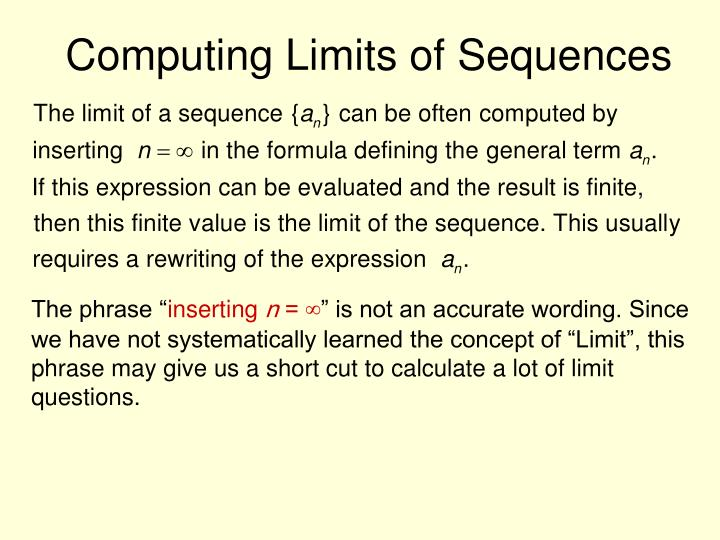 Computing Limits of Sequences