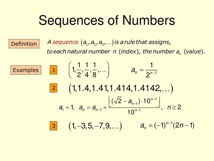 Sequences of Numbers