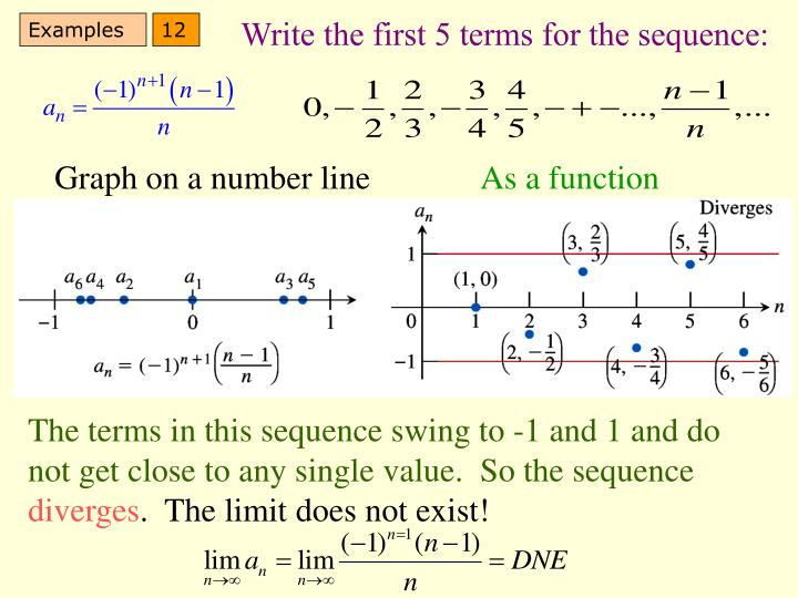 Write the first 5 terms for the sequence: