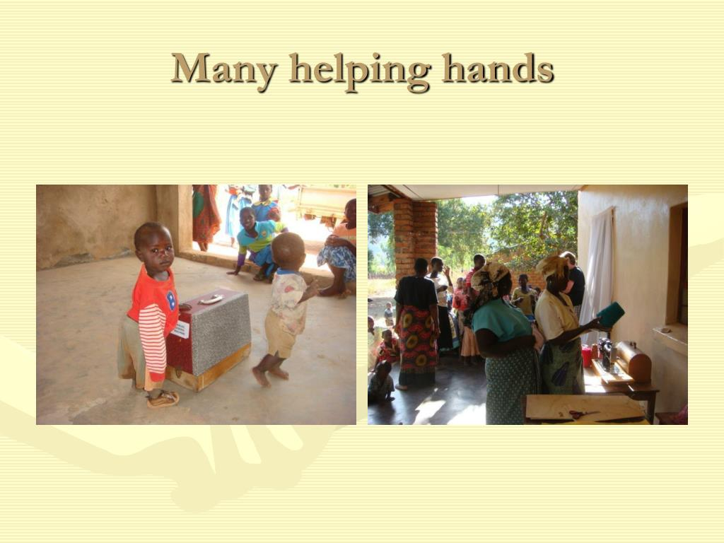 Many helping hands