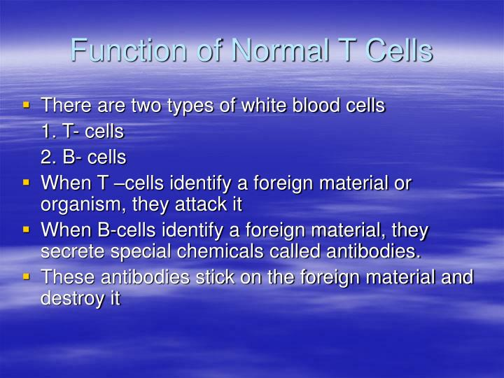 Function of Normal T Cells