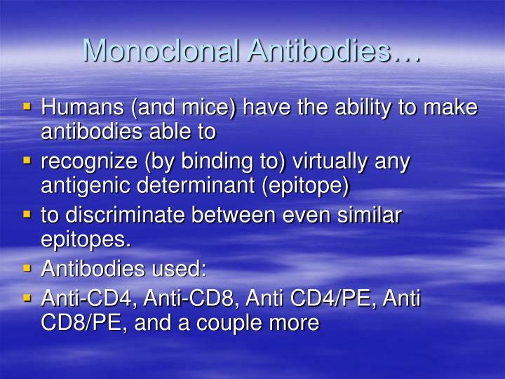 Monoclonal Antibodies…
