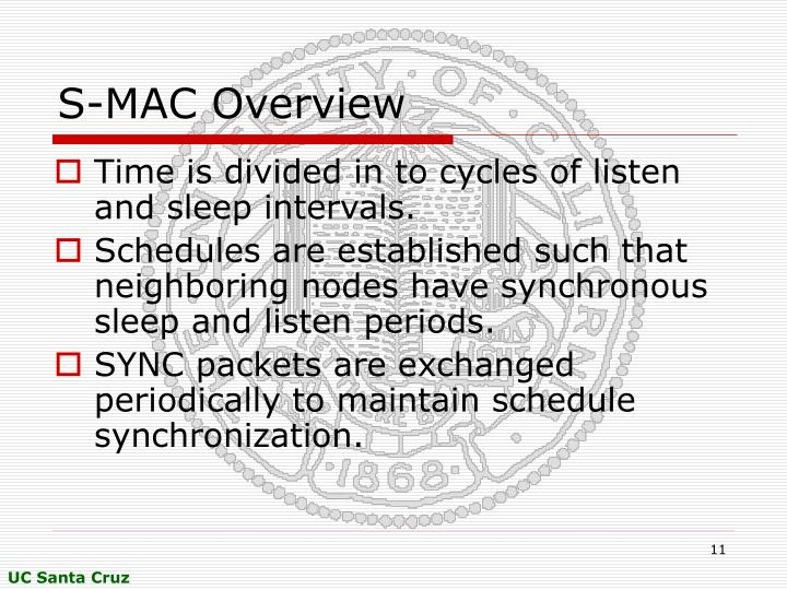 S-MAC Overview