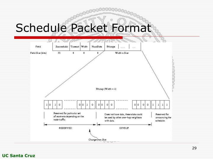 Schedule Packet Format