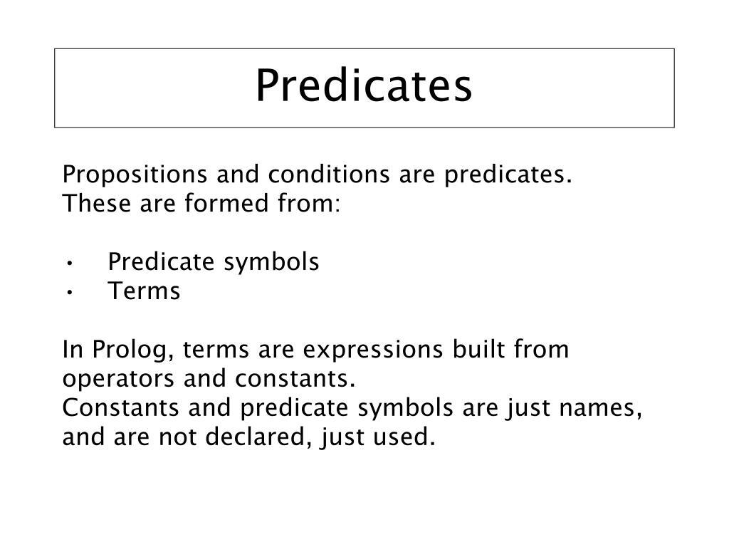 Predicates
