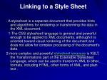 linking to a style sheet